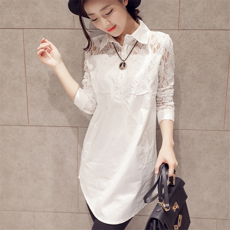 Big Size XXXXL 5XL Lace Blouses Brand Women Tops White OL Office Clothes Woman Blusas Femininas Casual Female Blouse Shirts