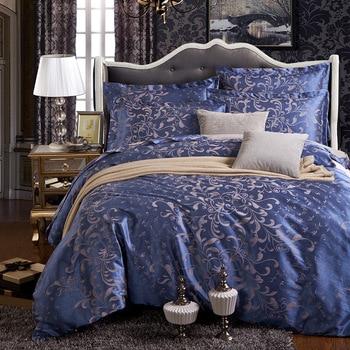 European bedding set jacquard luxury stain bed set  bed cover spring sheet 4pcs/set Queen king duvet set cover bed bedclothes