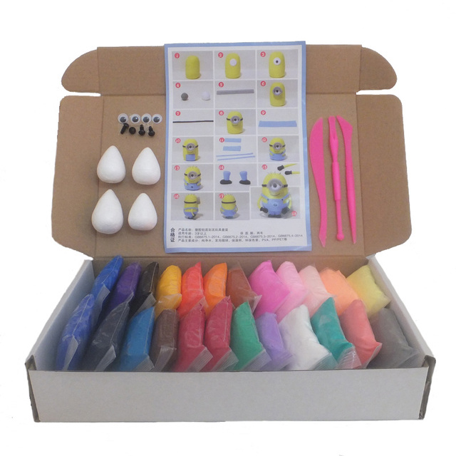 aliexpress   buy 24colors box soft fimo polymer