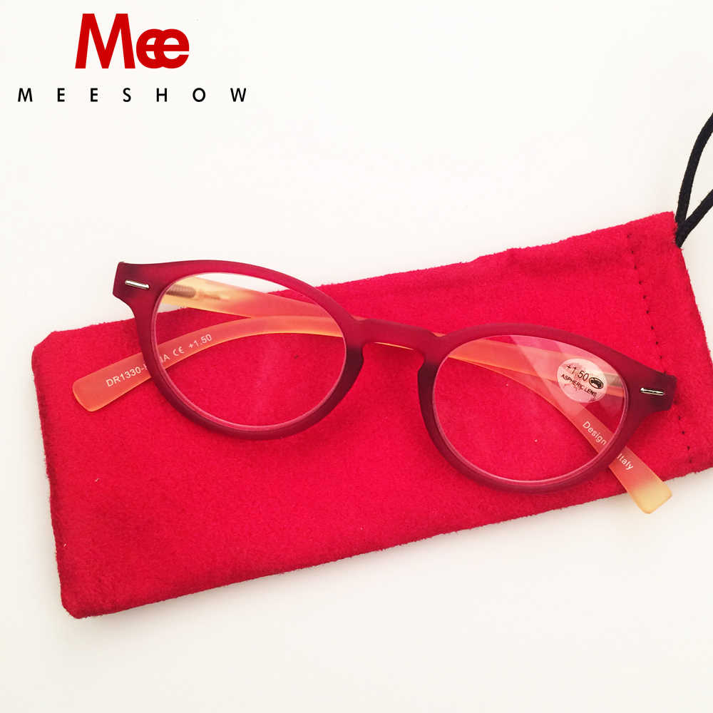 Meeshow rétro lecture lunettes femmes chat lunettes avec dioptrie rétro Europe style qualité hommes lunettes + 2.25 + 1.75 + 4.0 1330