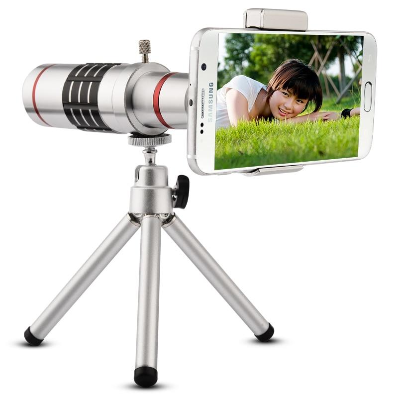 bilder für 18x universal teleobjektiv handy optischer zoom teleskop-kamera mit stativ für iphone sumgung htc huawei
