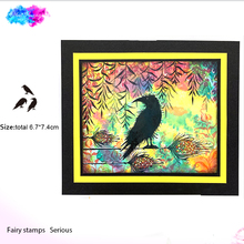 fairy stamps crow set Clear Stamp 2019 Rubber Transparent Silicone Seal for DIY Scrapbooking Photo Album Decorative Crafts