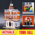 Lepin 15003 City Street Creators The Town Hall Model Building Block Assembling Toys Kits  compatible with 10224