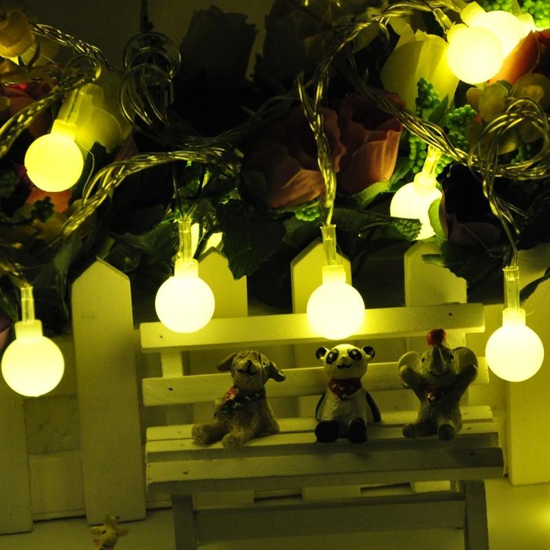 Luminaria Batterie 20 LED Cerise Balls Guirlande lumineuse Guirlandes - Éclairage festif - Photo 3