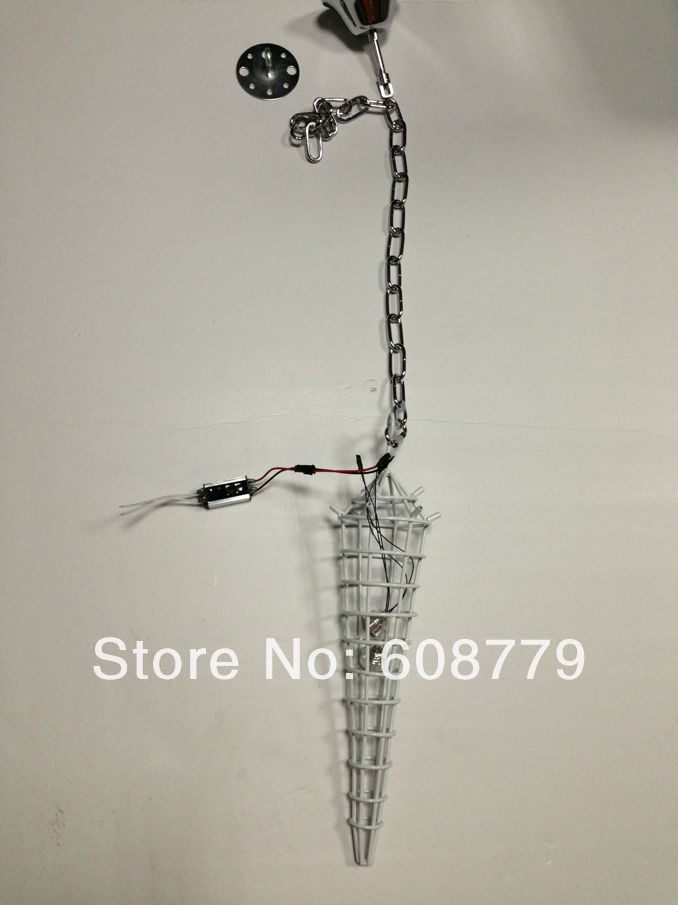 Free Shipping Factory Price Murano Hand Blown Glass Long Chandelier