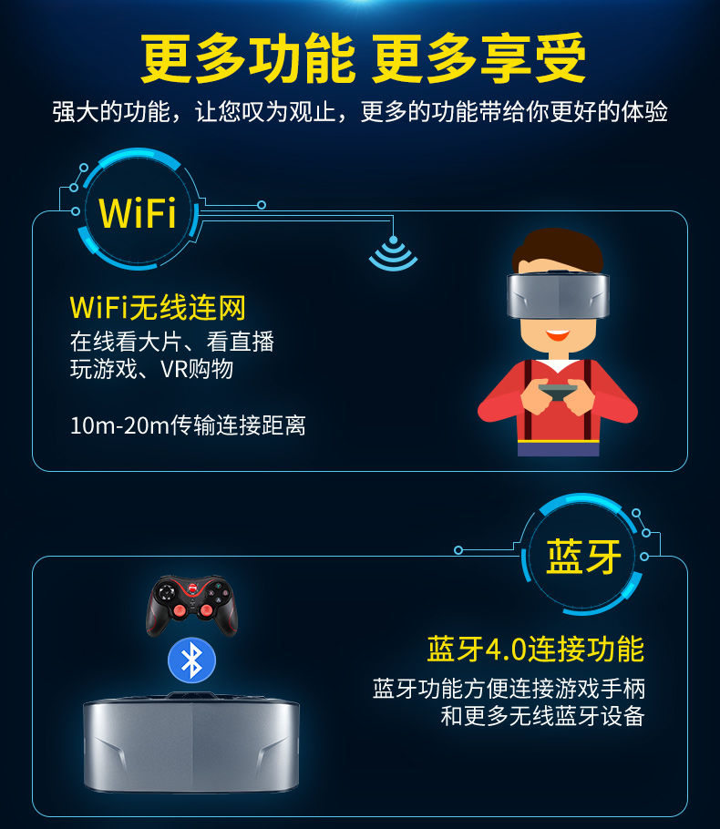 2017 new HD VR one machine virtual reality 3D glasses 2k video game helmet with WIFI 4000mAh battery H264decoding