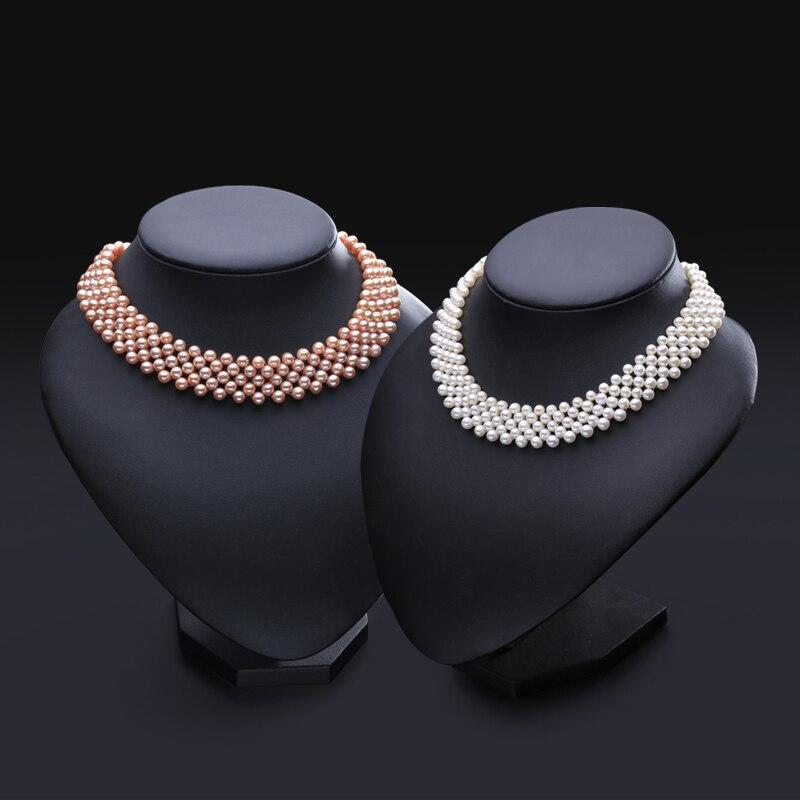 Collier ras du cou en perles d'eau douce naturelles collier vintage en perles muiltlaye pour femmes petit collier clavicule en perles-in Colliers from Bijoux et Accessoires    2