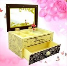 040233 font b Music b font font b box b font Girls birthday gift mirror jewelry