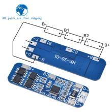 Защитная плата для литий ионных батарей TZT 3S, 12 В, 18650, 10 А, BMS, электрическая плата 10,8 В, 11,1 В, 12,6 В