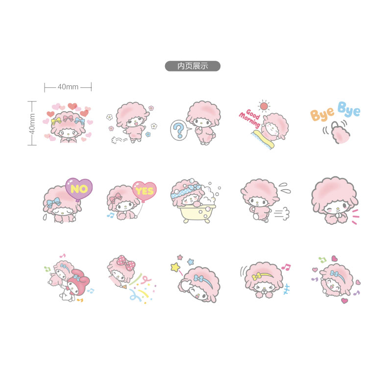 Купить с кэшбэком 45Pcs/box Cute lamb school supplies Mini Decoration Paper Sticker DIY Scrapbook Notebook Album Sticker Kawaii Girl Stickers
