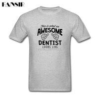 Men T Shirts Great White Short Sleeve Custom Tee Shirt Men Man S Awesome Dentist Looks
