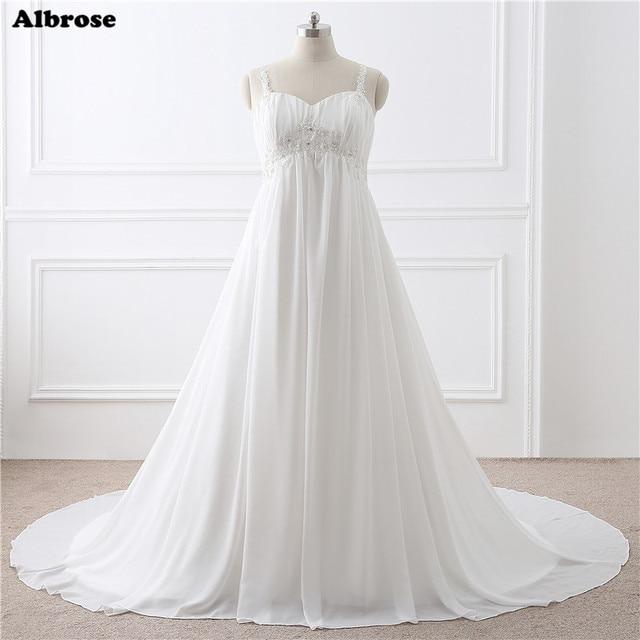 В наличии Средства ухода за кожей для будущих мам свадебное платье на шнуровке; Большие размеры Свадебные платья Длинные Chic свадебное платье Шик торжественное платье для беременных Для женщин