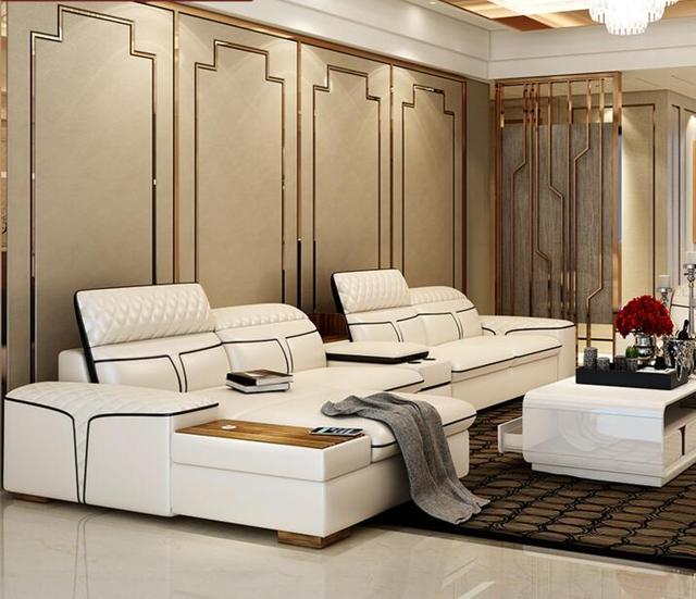 Luxury  L Shape Sofa w/ Corner Storage 2