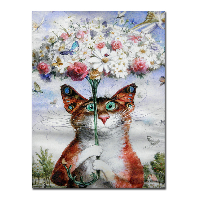 Online buy wholesale framed butterflies from china framed for Cat paintings on canvas