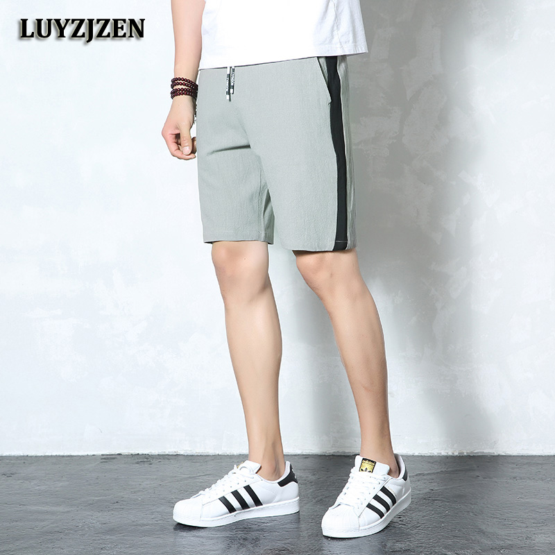 Summer Cotton Beach Shorts Men Fashion Brand Breathable Casual Shorts Comfortable Boardshorts Plus Size Cool Short Trousers K45