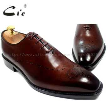 cie Square Toe Bespoke Custom Handmade Genuine Calf Leather Outsole Breathable Men\'s Oxfords Shoe Brown OX183 Mackayc/Blake raft - DISCOUNT ITEM  5% OFF Shoes
