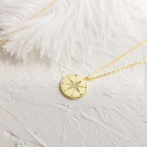 Image 3 - LouLeur 925 סטרלינג כסף זהב מצפן מכתב תליון שרשרת עגול creative שיק אלגנטי לתכשיטי נשים