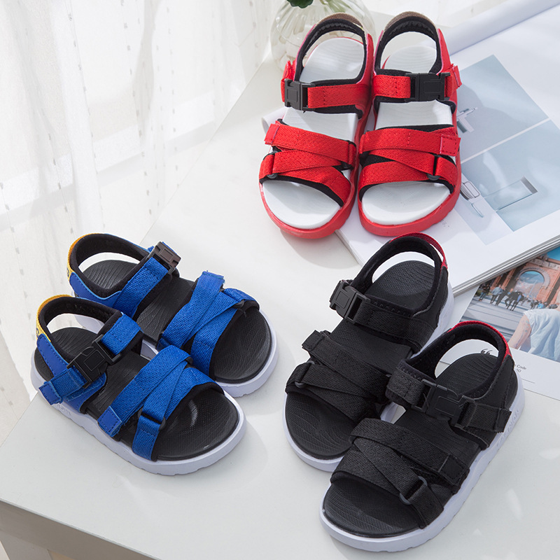 2018 Summer New Sports Sandals Boys and Girls Breathable Soft Bottom Comfortable Beach Sandals