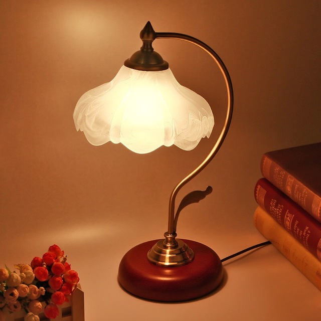 Modern Table Lamp E27 Base On Switch Dimmable Wooden 2 4g Rf Remote Control