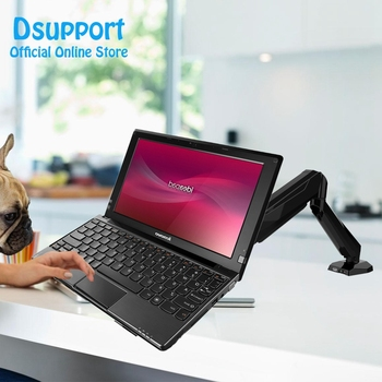 Full Motion Desktop Notebook Laptop Holder Display Mount Bracket With Audio and USB Port 17 inch Lapdesk GM212U-D