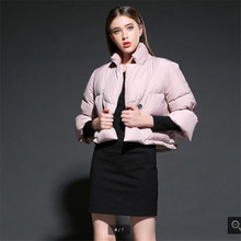 2016 Europe Style Leisure Short Jackets Winter Thick Warm Duck down Down jacket Loose 7 minutes sleeve Fashion Women Coat G2462