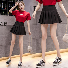 Office Mini A-Line Women Pleated Skirt White Black High Waist Sexy Ladies Short Hot Casual Work Large Size Summer Cl