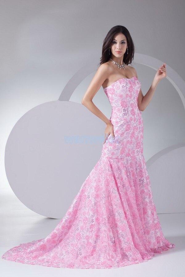 ⑥Envío Gratis nueva moda 2018 encaje vestido formal cena bola Rosa ...