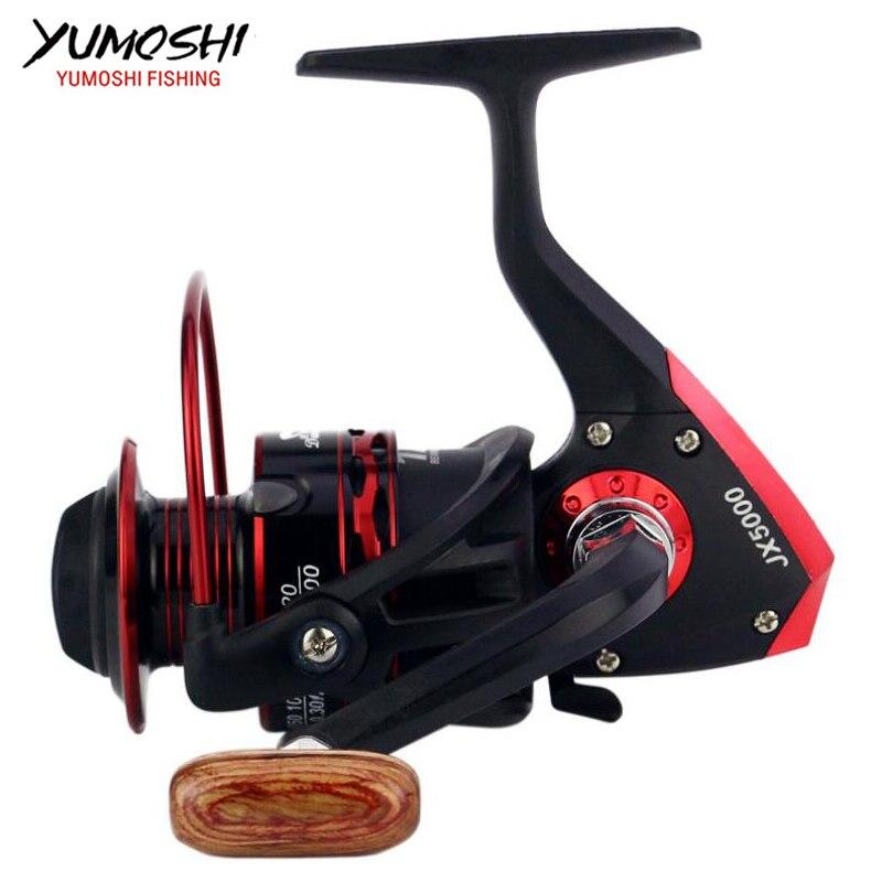 Hot wheels spinning fisch reel 5,5: 1 12 Kugellager 1000-7000series carretilhas de pescaria molinete angeln ausrüstung