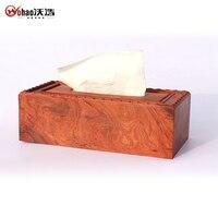 Derlook mahogany tissue box red sandalwood box tissue pumping box paper napkin box gift beautiful