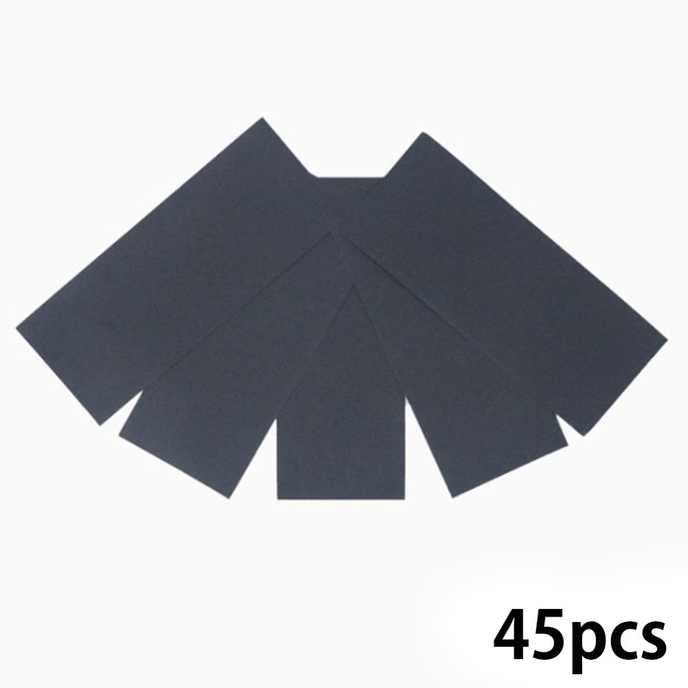 35/45 Pcs Wet Dry Sandpaper 120 To 3000 Grit Assortment Abrasive Paper Sheets For Automotive Sanding Wood Furniture Finishing