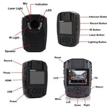S60 2K Body Personal Security Police Camera Night Vision Video Recorder 32GB GPS Remote Control Function