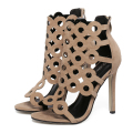 US5-9 New Fashion Summer Style women's high heels Stiletto sandals ladies celebrity Zipper Cut-Outs shoes woman Pumps