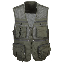 Functional Outwear Tactical Photo Vests For Men Plus Size 3XL Mens Summer Style Coats Camo Camouflage Clothing Brand S3167
