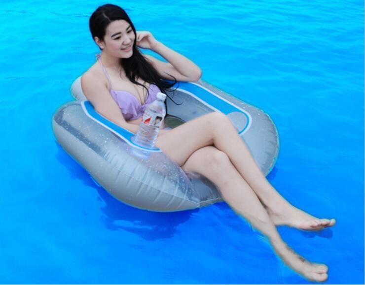 102cm * 94cm Uppblåsbara flytande rad Uppblåsbara flytande säng - Vattensporter