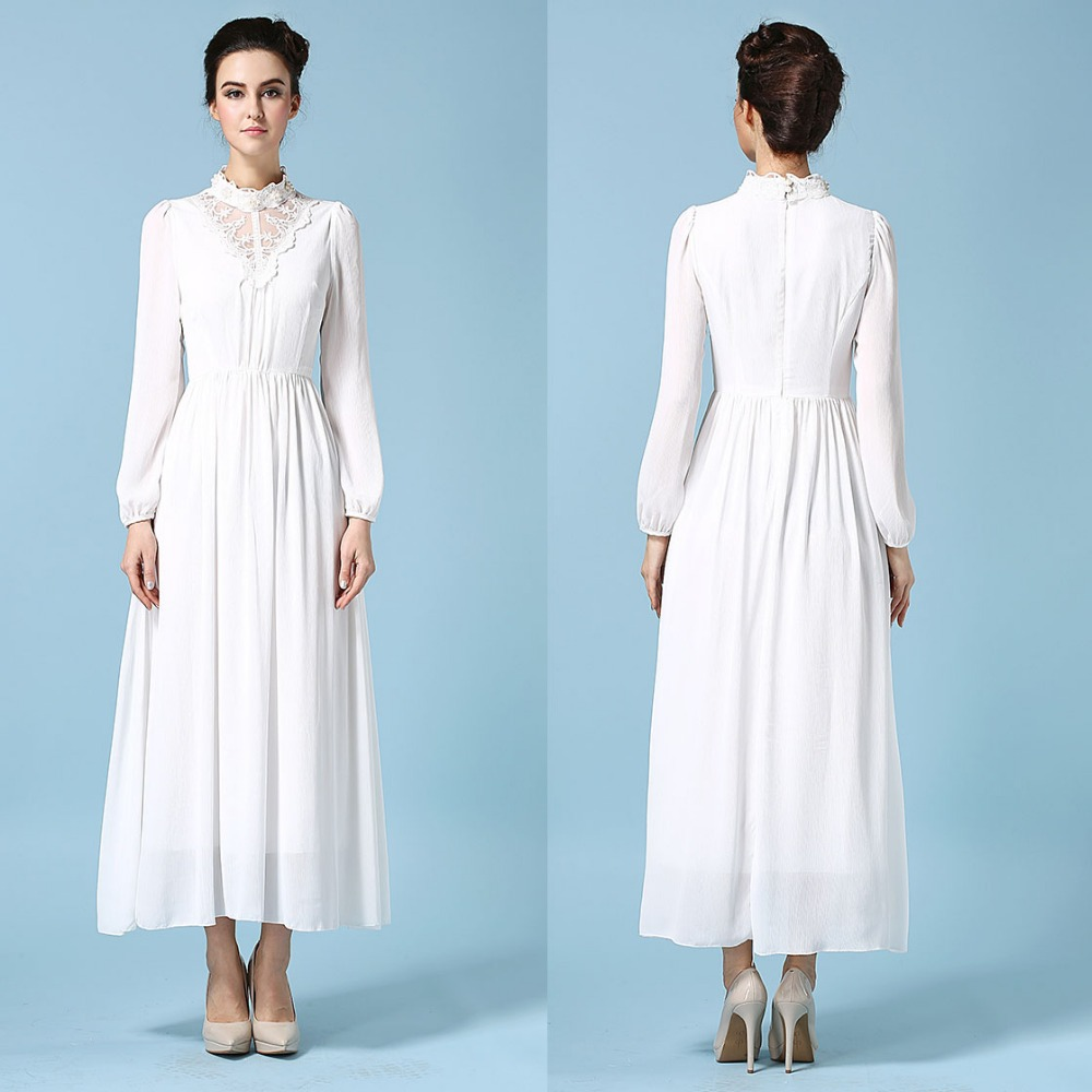 Simple Long White Dress With Sleeves Naf Dresses: 2015 China Cheap Clothes With Lace Long Full Sleeve Summer