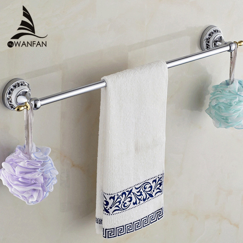 Towel Bars Singer 60cm Chrome Matel Towel Shelf Hanger Holder Wall Mounted Luxury Ceramic Bathroom Accessories Towel Rack ST-671 цены онлайн