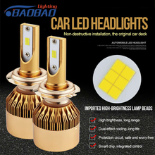 HuJo R8 2pcs Led Car Headlight H4 55w 6000lm Hi/Low Light Bulb H7/H11/9005/9006 car styling IP68 Waterproof Automobile Headlamp