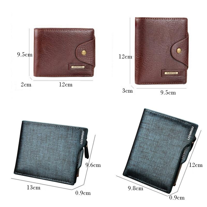 Tarjeta Diseño La Monedas Monedero Pocket Vendimia Con 2017 Titular Pu Id Marrón Pequeño En Negro De Cuero Corto Hombres Del Cartera Carteras EnnqUT