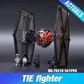 2016 new Star Wars serie de Primer Orden de Las Fuerzas Especiales TIE fighter modelo Bloques de Construcción Juguetes Clásicos compatible 75101