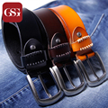 GSG Men Genuine Leather Belt Full Grain Leather with unique thread decoration Fathers Day Gift