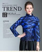 GRATIS VERZENDING Kwart Mouw Miyake plooien vintage print coltrui Tie dye T-shirt HOT SELLING