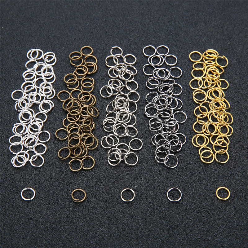 Aclovex 200pcs 4mm 5mm 6mm 8mm 10mm Open Jump Rings & Split Rings Gold Silver Color Metal Iron Connectors for Diy Jewelry MakingAclovex 200pcs 4mm 5mm 6mm 8mm 10mm Open Jump Rings & Split Rings Gold Silver Color Metal Iron Connectors for Diy Jewelry Making