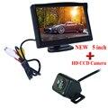 Hot Sale CCD Universal car backup parking rear camera Waterproof reverse rear view camera + 5inch car monitor mirror TFT LCD