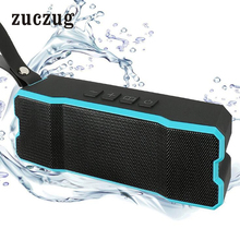 Zuczug Portable IPX6 Waterproof Dust-proof Outdoor Wireless Bluetooth Speaker With Mic Hand Free Speaker Long Time Standby