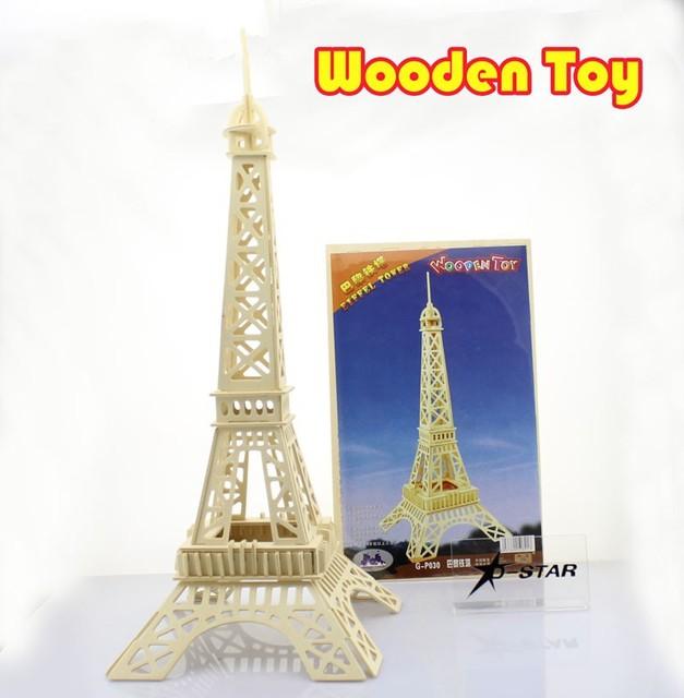 DHL Shipping 20pcs Paris Eiffel Tower Wooden Puzzle Jigsaw DIY ...