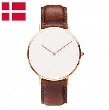 Dinamarca Diseño Relojes de Hombre Movimiento de Cuarzo de Diseño Elegante para Caballero y Señora