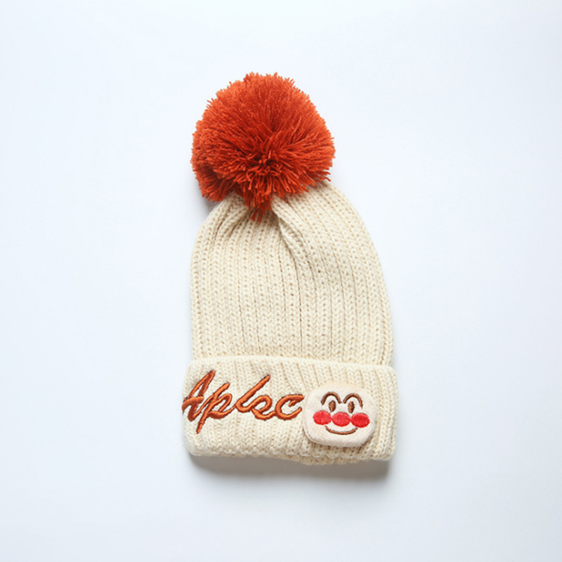 2017 Autumn Winter Infant Baby Knitted Beanie Warm For Baby Boys and Girls Heavy Knitted Hat Caps Unisex Clothing accessory
