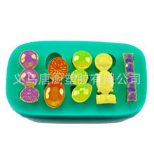 New Pattern gem jewelry Embossed Silicone Mold Fondant Cake Chocolate Mold Cake Decorating Tools DIY Baking H684