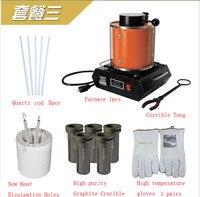Hot! + 1kg capacity 110v/220v Portable melting furnace, electric smelting equipment, for gold copper silver