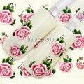Wingood88 nailart tienda rosa flor de transferencia de agua pegatina de uñas Beauty nail art decoraciones tool Negro 10 unids envío gratis